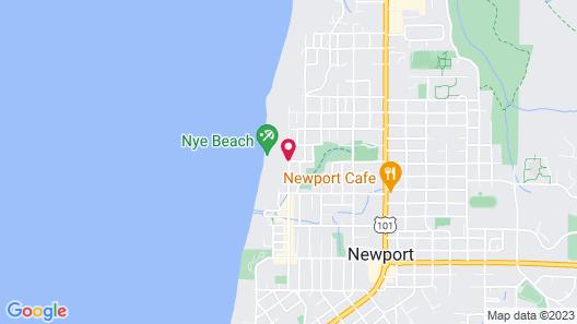 OYO Waves Hotel Newport OR - NYE Beach Map