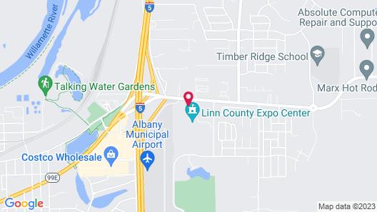 Comfort Suites Linn County Map