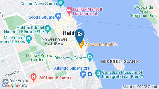 Courtyard by Marriott Halifax Downtown Map