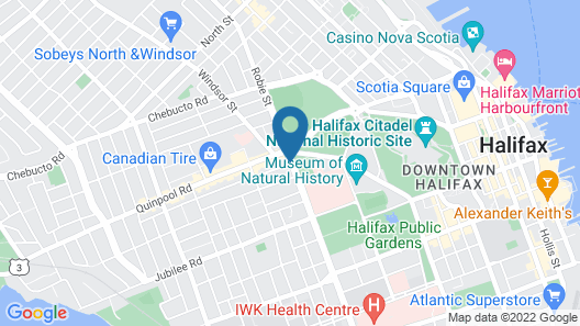Atlantica Hotel Halifax Map