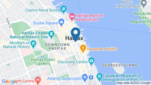 The Hollis Halifax a DoubleTree Suites by Hilton Hotel Map