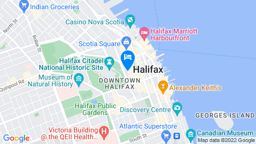 Prince George Hotel Map