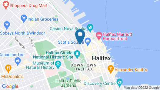 Hampton Inn by Hilton Halifax Downtown Map