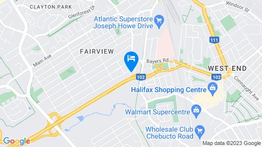 Seasons Inn Halifax Map