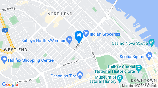 Luxury 2 Bedroom Apartment Downtown Halifax - Free Parking Map