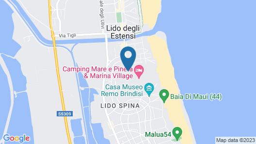 Holiday Chalets Camping Mare e Pineta Map