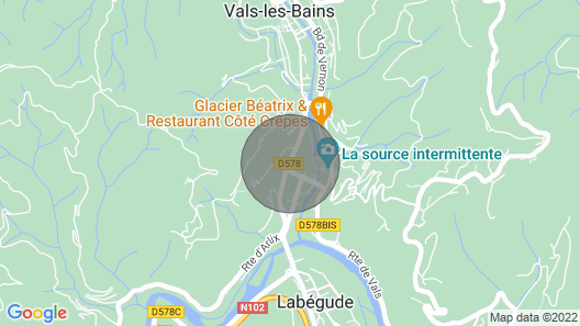 Cottage Park Foot Casino and spa Park in Vals LES Bains Map