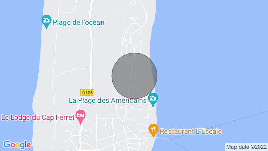 Cottage Villa - Cap Ferret - American Beach Map