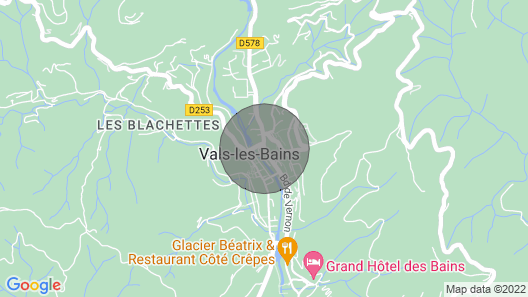 Large 19th Century Residence With Swimming Pool in Vals les Bains - Ardèche Map
