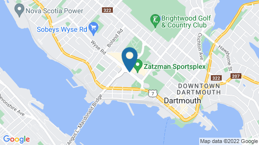 Doubletree by Hilton Halifax Dartmouth Map