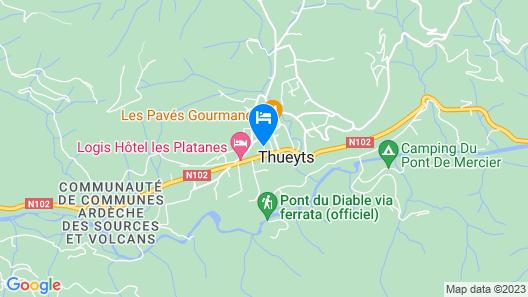 Hôtel - Restaurant les Marronniers Map
