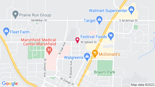 Hampton Inn & Suites Marshfield Map