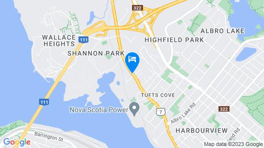 Coastal Inn Dartmouth Map