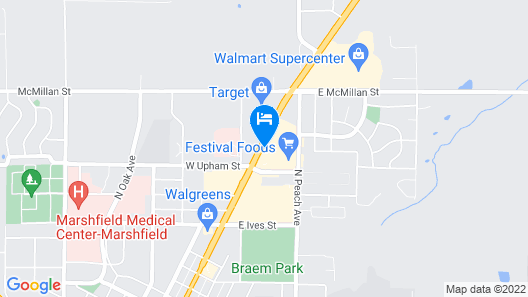 Woodfield Inn and Suites Map