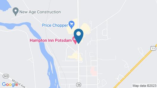 Hampton Inn Potsdam, NY Map