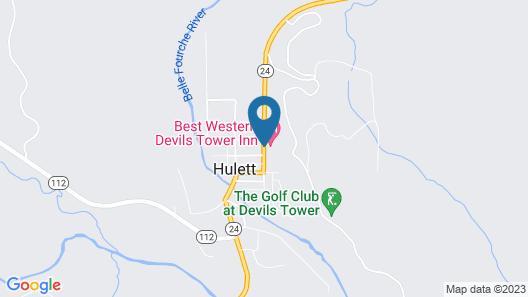 Best Western Devils Tower Inn Map