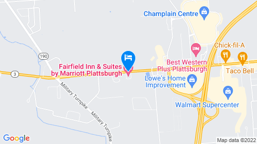 Fairfield Inn & Suites Plattsburgh Map