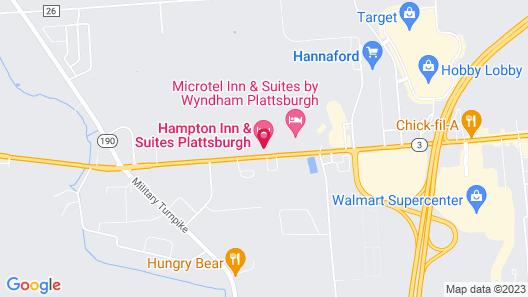 Hampton Inn & Suites Plattsburgh Map