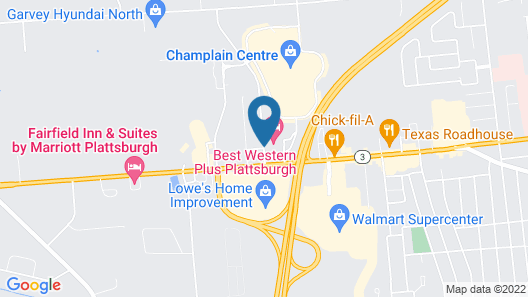 Best Western Plus Plattsburgh Map
