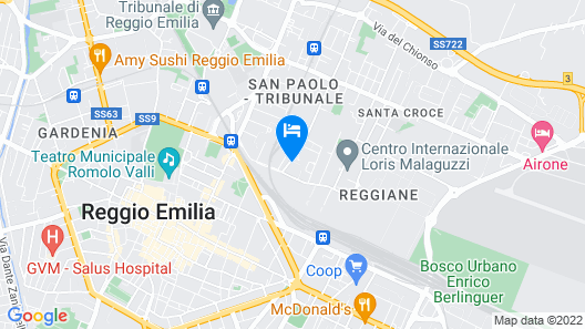 Apartment With 3 Bedrooms in Reggio Emilia, With Wonderful City View and Wifi Map