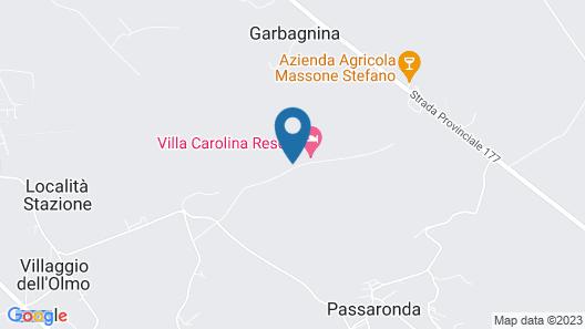 Villa Carolina Resort Map