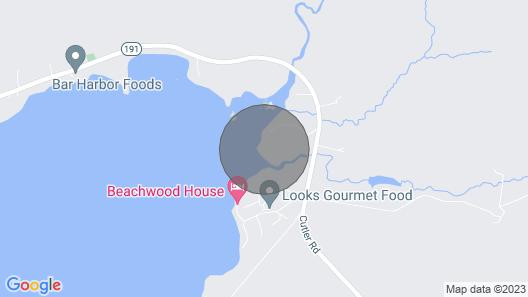 Coastal Maine Woodland Retreat Map