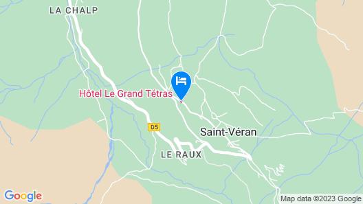 Hôtel le Grand Tétras Map