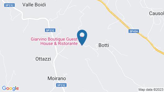 Villa Giarvino Map