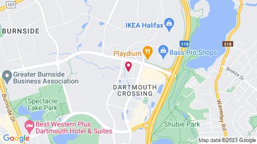 Courtyard by Marriott Halifax Dartmouth Map