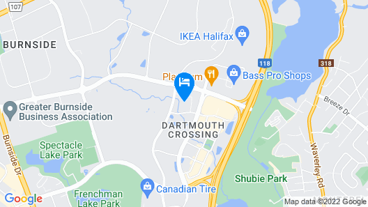 Courtyard by Marriott Halifax Dartmouth Map