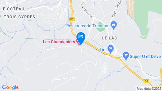 Hôtel Les Châtaigniers Map