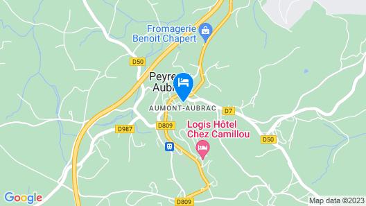 Hôtel La ferme de l'Aubrac  Map