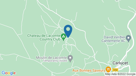 Chateau de Lacomte Map