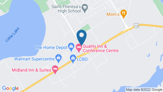 Quality Inn & Conference Centre Map