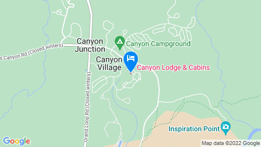 Canyon Lodge & Cabins - Inside the Park Map