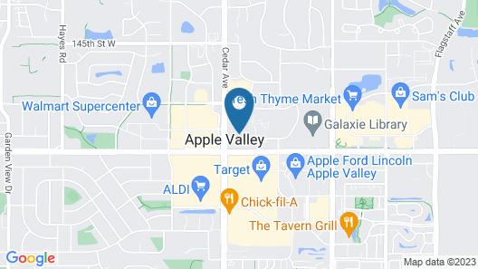 AmericInn by Wyndham Apple Valley Map