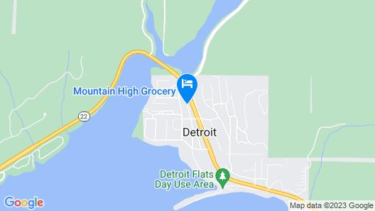 The Lodge at Detroit Lake Map
