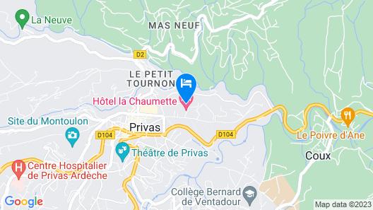 La Chaumette Porte des Suds Map
