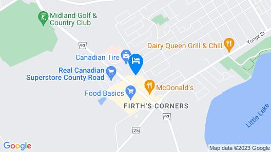 Super 8 by Wyndham Midland Map