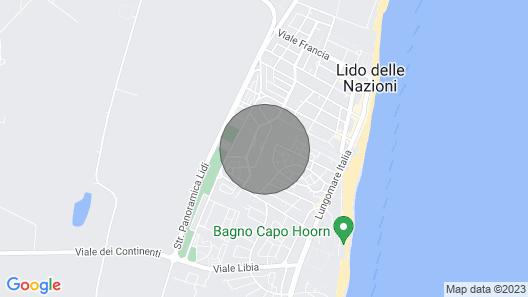 2 Bedroom Accommodation in Lido Delle Nazioni FE Map