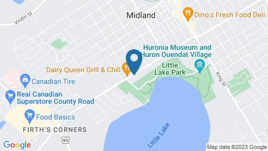 Knights Inn Midland, ON Map