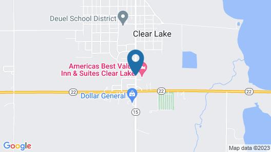 Americas Best Value Inn & Suites Clear Lake Map