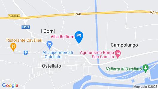 Villa Belfiore Map