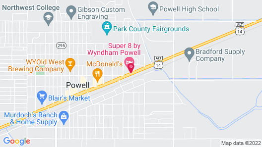 Super 8 by Wyndham Powell Map
