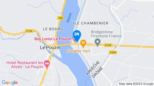 ibis budget Loriol le Pouzin Map