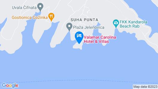 Valamar Carolina Hotel & Villas Map