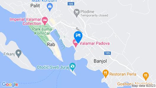 Valamar Padova Hotel Map