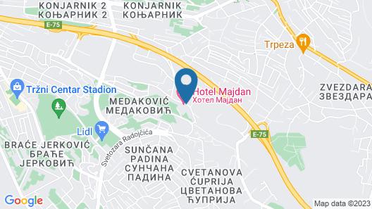 Hotel Majdan Map