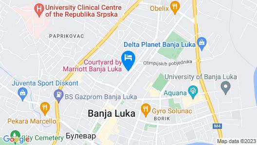 Courtyard by Marriott Banja Luka Map