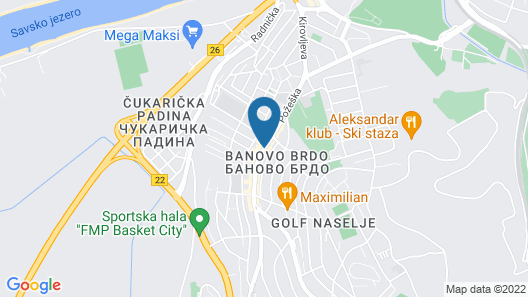 Balkan Hotel Garni Map